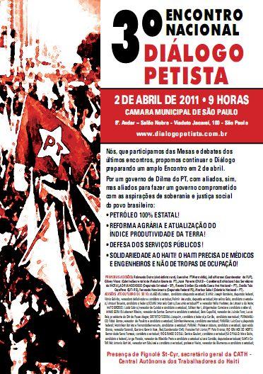Cartaz do 3º Encontro do Diálogo Petista