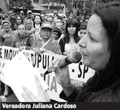 Vereadora Juliana Cardoso